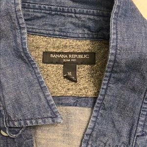 Banana Republic XL Jean Shirt